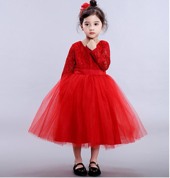 Compre Vestido De Niña De Color Burdeos Vestido De Niña Vestido Rojo Niña Turquesa Vestido De Fiesta Para Niños Vestido De Niña De Flores Glitz Boda