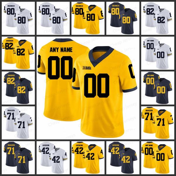 the best attitude f0999 90810 2019 Custom Mens Michigan Wolverines Jerseys 80 Alan Branch 82 Amara Darboh  71 Ben Braden 42 Ben Gedeon All Stitched College Football Jersey From ...