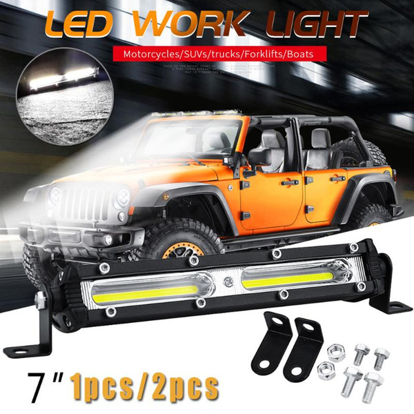 1 pair truck led light bar 12v 24v 18w single-row spot light off-road suv truck xhp led work bar ce rohs ip67