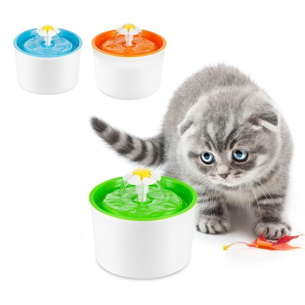1 Pcs Automatic Pet Feeder Blue Flower Cat Dog Electric Fountain For Cats Pet Bowl Drinking Water Dispenser Drink Dish Filter