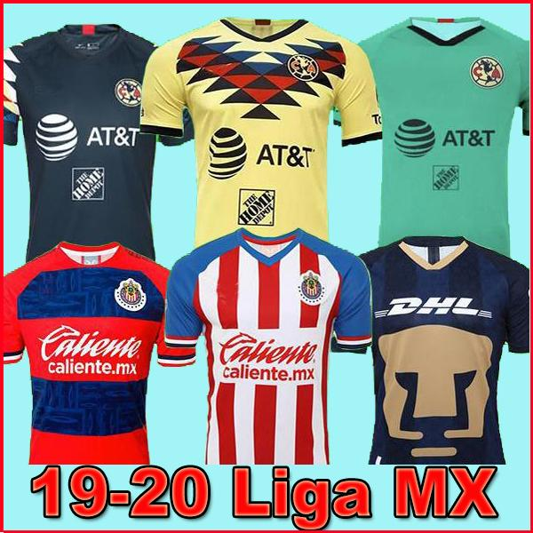 LIGA MX 2019 20 Club America Soccer Jerseys 2020 Club de Cuervos Home Away Third UNAM Guadalajara Chivas kit Jersey 19 20 Football Shirts