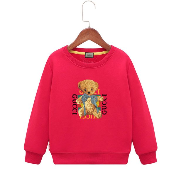 Kids Hoodies 2019 Spring Heat Sell Korean Edition Children's Clothes Small Bear White Letter Boys T-shirts Sweater Children Skirt Shirt