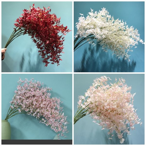 Artificial Silk Flowers Cherry Blossoms Mulit Color Fake Flower Eco Friendly Simulation Plant Home Furnishing Wedding Celebration 6 8hqaE1
