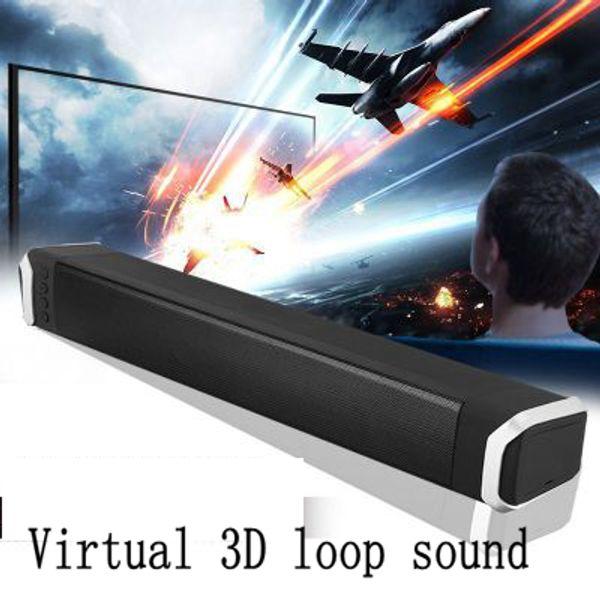 Hot sale strip whispering wall wireless bluetooth speaker TV home theater strip sound / black blue red portable Bluetooth wireless speaker