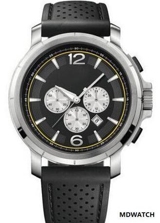 FRETE GRÁTIS Black Dial Chronograph Watch QUARTZ WRISTWATCHES HB1512455 relógio dos homens + caixa original