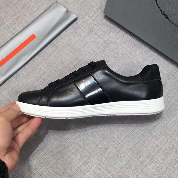 Herren Canvas und Kalbsleder Trainer Fashion Europa Fashion Sneaker Neue Sneaker B22 Trainer Technische Strickschuhe RD PRD 38-44 05
