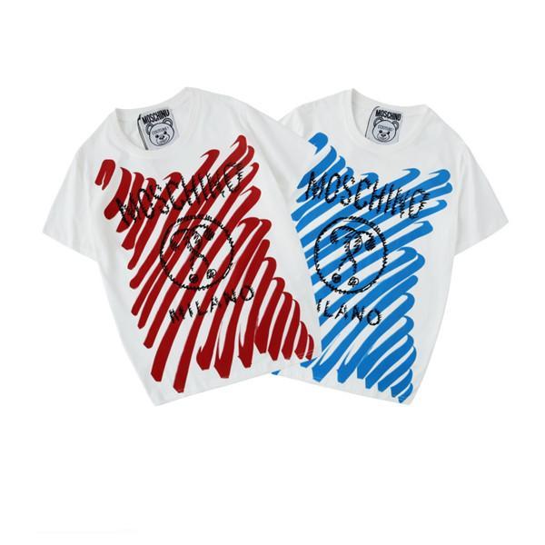 L953# летняя новая мужская одежда, высококачественная печатная хлопковая футболка с круглым вырезом, мужчины и женщины с мужскими дизайнерскими рубашками