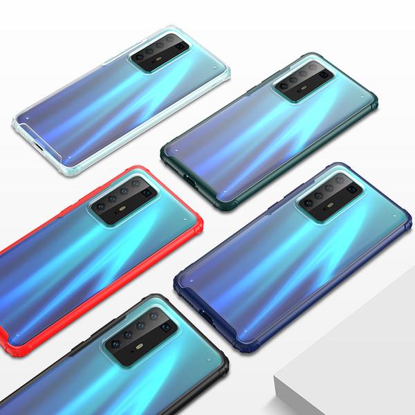 Mat Şeffaf Şeffaf Hard Case For Huawei P40 Pro Mate 30 Pro P30 Pro P30 Lite Onur V30 Nova 6 P40 OnePlus