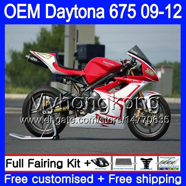 Injection For Triumph Daytona 675 2009 2010 2011 2012 Body factory red 323HM.30 Daytona-675 Daytona675 Daytona 675 09 10 11 12 OEM Fairing