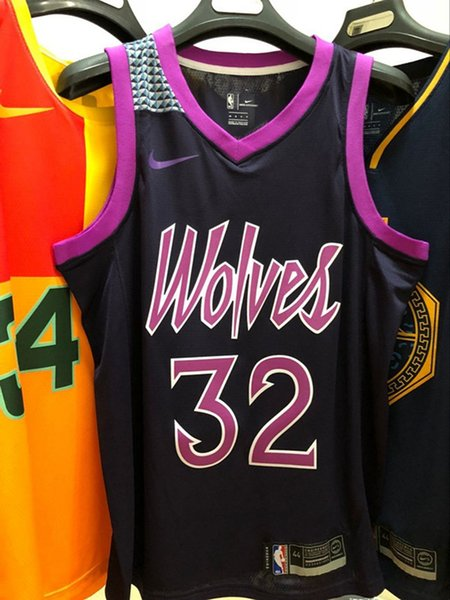 reputable site 4050e cfbe3 2019 2020 Mens Timberwolves Karl Anthony Towns City Purple Swingman  Basketball Jersey Hot Pressing Printed Name Number Authentic US Size XXS  XXL From ...
