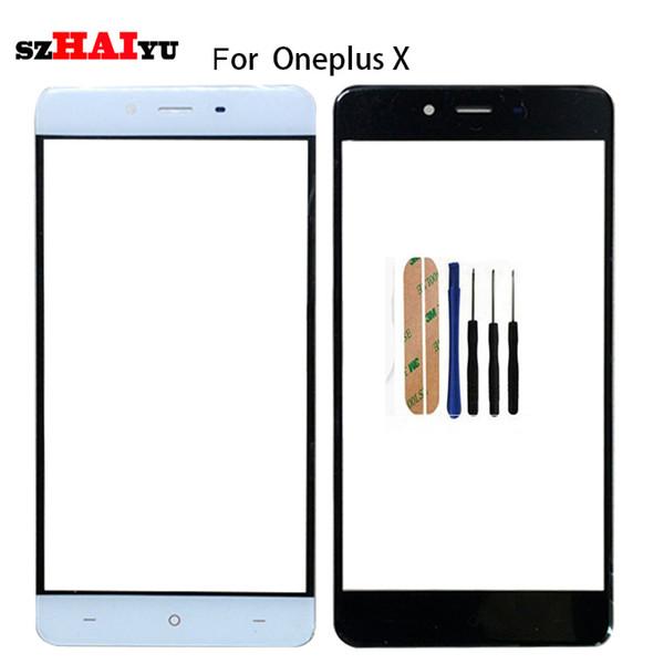 SZHAIYU A + Haut de remplacement LCD lentille extérieure en verre Panneau d'écran avant pour Oneplus X E1001 verre avant + Kits