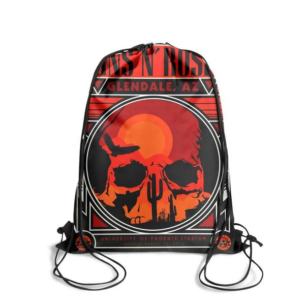 Sports backpack Guns N' Roses hatop vintage skull cotton linen cushion cover throw waist pillow case sofa home decor fashion popular persona