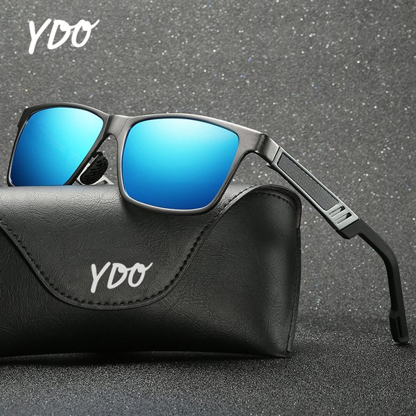 YDO Hombres Gafas de Sol Polarizadas 2019 Nueva Moda AlMg Marco de Aleación Muelle Bisagra Templos UV400 Vintage Gafas de Sol Sombras de Verano