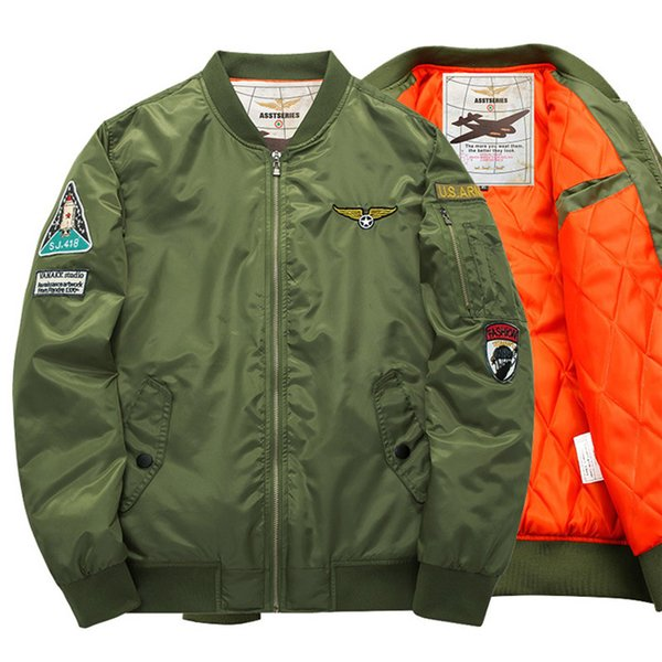 Autunno Giacche Uomo Bomber Flight Pilot Jacket Uomini Ma-1 Flight Jacket Pilot Maschio Army Motorcycle Race Coats