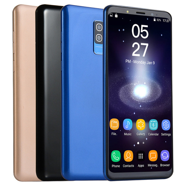 Goophone S9 5.72inch MTK6580 Unlocked cell phone Quad Core Android 5.0 1G+4G show 4G+32G for Dual SIM