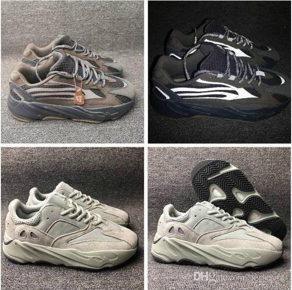Мужские женские аутентичные Kanye West Real Boost 700 аналоговые EG7596 дизайнерская обувь Мода роскошные ретро тренеры новый спорт повседневный размер кроссовки