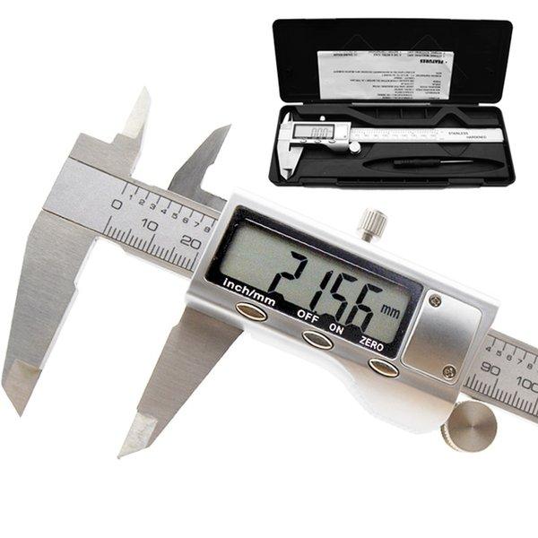 6 pollici 150 millimetri in acciaio inox strumento di misurazione calibro digitale elettronico digitale calibro a corsoio micrometro metallo misura righello