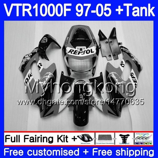 Bulle pare brise moto HONDA VTR 1000 F FIRESTORM 1997-2005 Noir