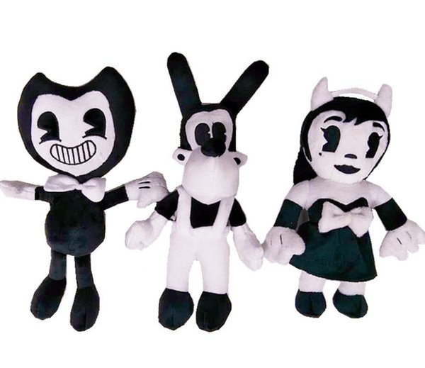 Thriller Game Bandy And Ink Printer Plush Doll 30cm Bendi Plush Toys Doll