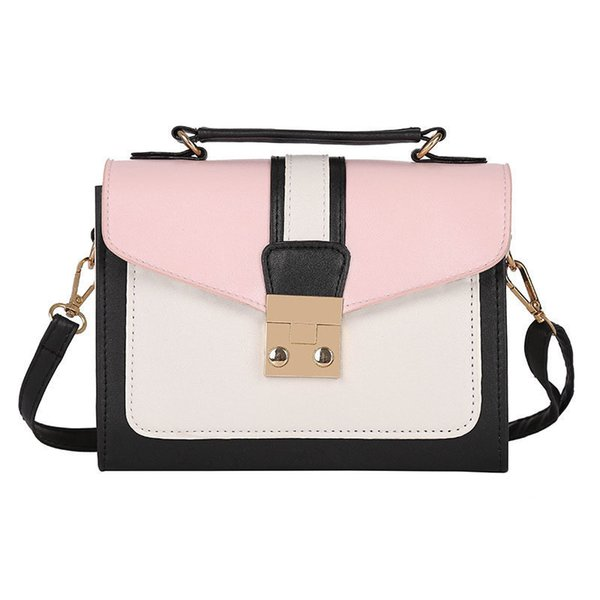 good quality Luxury Handbags Women Shoudlder Bags Pu Patchwork Color Designer 2019 For Teenager Small Messenger Bags Bolsas