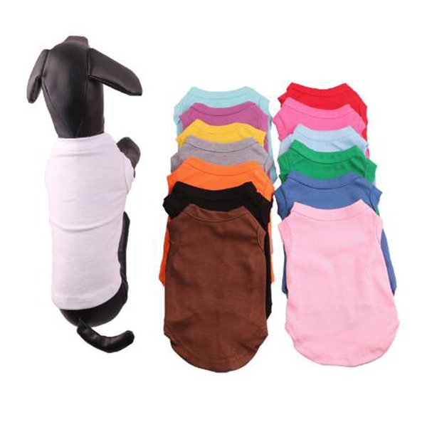 Small Dog Clothes T Shirts Summer Solid Dog Clothes Fashion Classic Shirts Cotton Clothes Cheap Pet Apparel Quickily Delivery