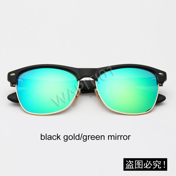 Miroir noir / vert