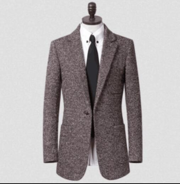 Teenage men's clothing business casual suit collar mens wool coat plus size fashion manteau homme coffee casaco feminino 9XL