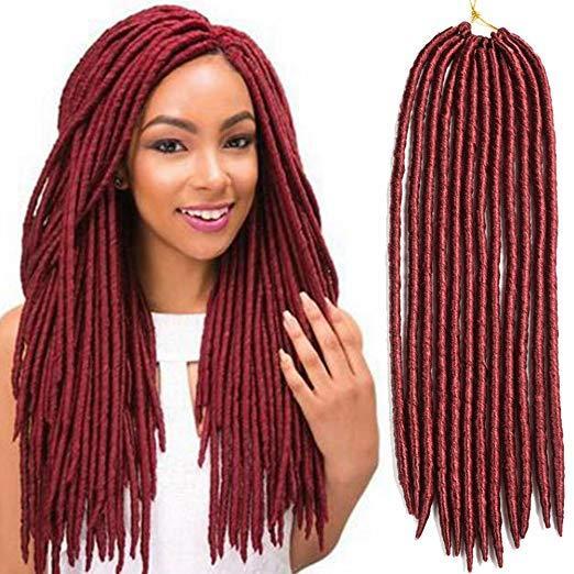 Faux Locs Crochet Twist Tresses De Cheveux Extensions De Cheveux Synthétiques Fauxlocs Kanekalon Fibre De Tressage De Cheveux Afro Kinky Dreadlocks Doux