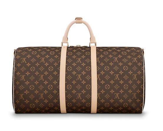 Top Hot brand Travel Bags men women real leather Keepall 45 50 55 60 full mens women crossbody totes shoulder bag