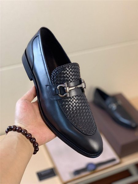 2019new high-end brand mens real leather dress shoes wedding shoes comfortable mens shoes, mens casual prom higher end design with origi DA