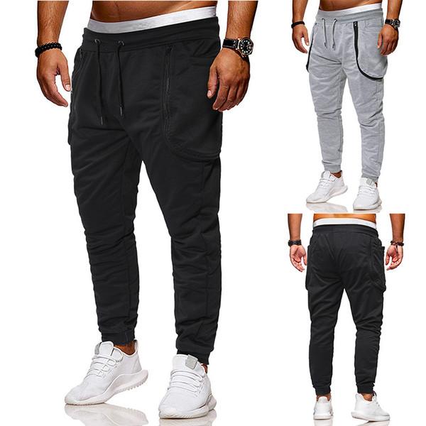 22Brand concepteur Ouma 2019 commerce extérieur nouveau pantalon fermeture éclair coutures couleur unie de mode masculine pantalon décontracté bundle une génération de graisse