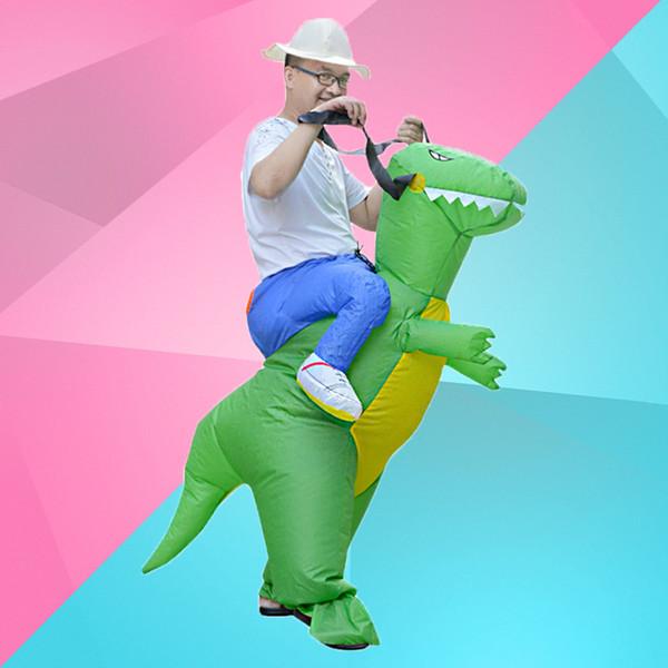 Vestiti di prestazione del giocattolo di Halloween Vestiti della bambola di prestazione del partito Cosplay Divertimento divertente Dinosauro gonfiabile Tyrannosaurus Rex liberamente