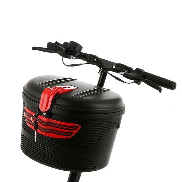 Electric Bicycle Basket Mountain Bike Plastic Bicycle Basket Hanging Front Handlebar Storage Saddle Bag #79547