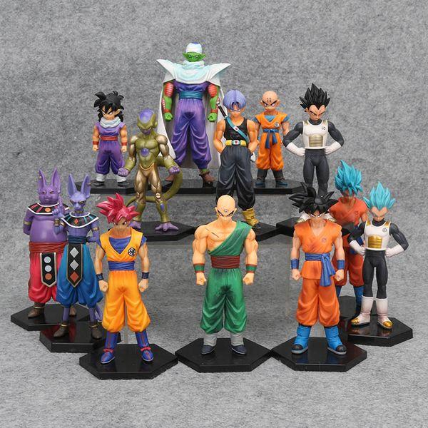 17 stilleri Dragon Ball Z DBZ Kuririn Vegeta Sandıklar Freeze Son Goku SON Gohan Piccolo Freeza Beerus Aksiyon Figürleri Oyuncaklar