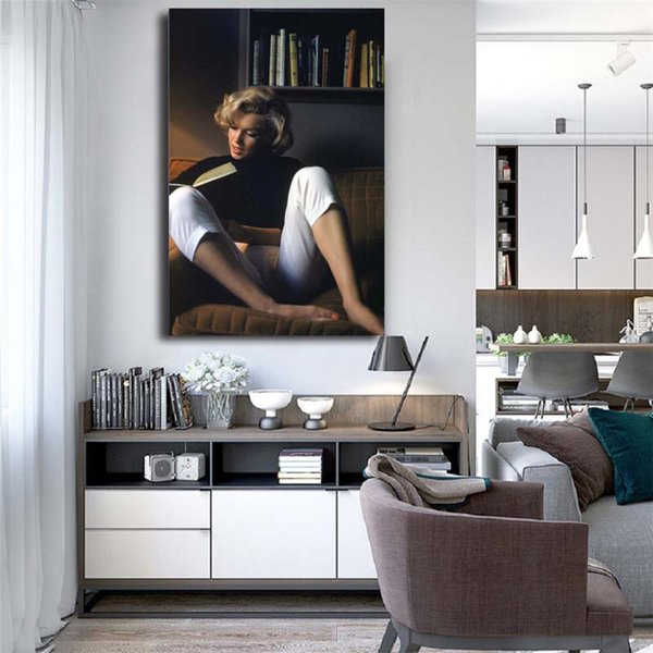 Marilyn Monroe Photograph HD Famous Figure Canvas Painting Print Living Room Home Decor Modern Wall Art Oil Painting Poster