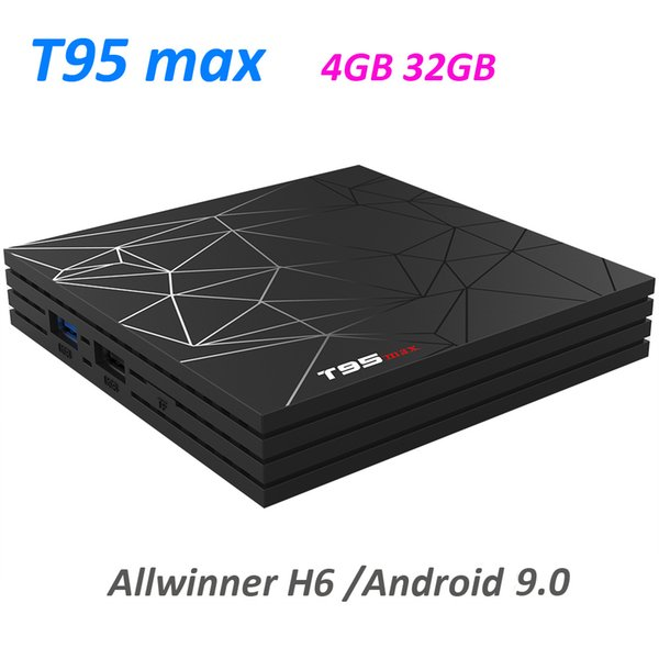T95 MAX Android 9.0 TV Box 4GB 32GB Smart Set top box H6 H.265 4K Netflix media player T95 PK TX6