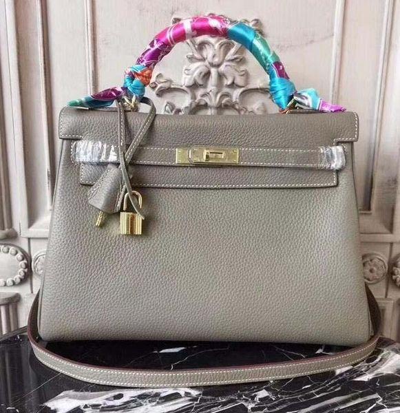 New Luxury Designer Leather Lock kelly Hand Bags Leather Women Handbags Ladies Shoulder Bags Original leather Classic Women Messenger zz14