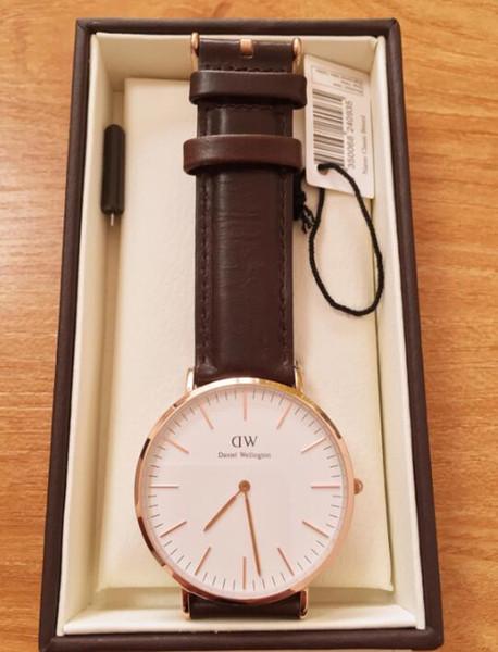 Relojes Cara Negra Daniel 40mm Nueva Hombres Compre OP8nwk0