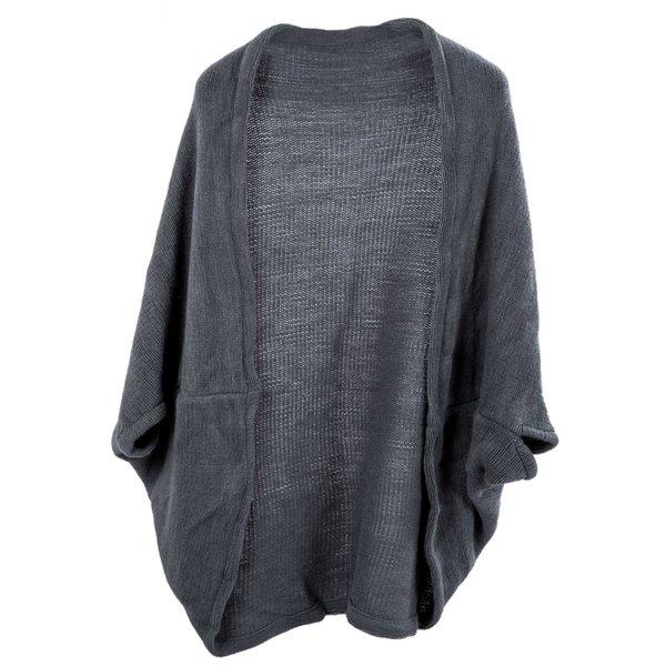 Maglietta a maniche a tre quarti in maglia a maniche a tre quarti con collo alto a pipistrello da donna di alta qualità