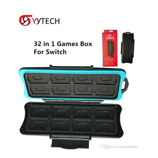 SYYTECH Factory Price 32 in 1 Holder protector Waterproof Memory Card Box Storage For Nintendo Switch