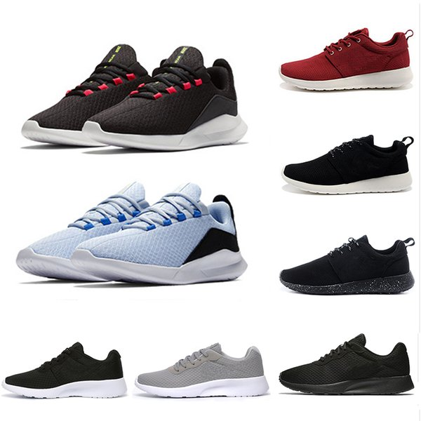 Nike roshe shoes 2019 Cheap Tanjun 3.0 London 1.0 Run Running Shoes men women black white Lightweight Breathable Olympic Sports Sneakers mens Trainers 36-45