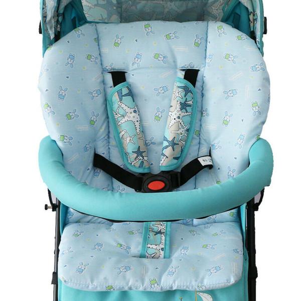 Nouveau bleu / rose bébé poussette Coussin doux bébé voiture Pram Pad Enfants panier Seat coton chaud Chaise Mat Coussins