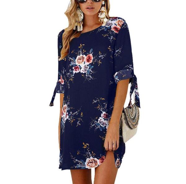 d0951cb6fc09c Bohemian Women Vintage Print Dress VONDA Sexy O Neck Ruffle Sleeve Split  Maxi Long Dresses Plus Size Casual Loose Vestidos Evening Dresses On Sale  ...