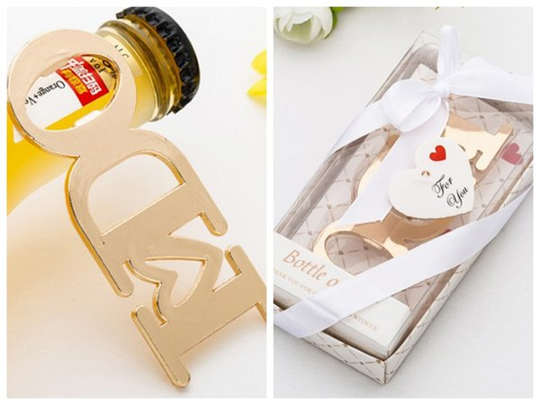(20 Pieces/lot) Gold Wedding souvenirs of I Do Bottle Opener Favors for Event and Party favors and Gold Bridal shower decoration