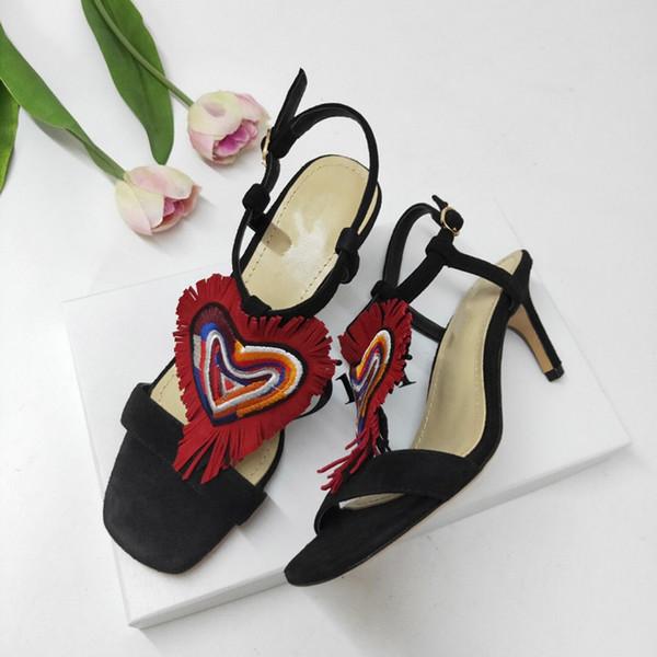2019 marca diseñador sandalias moda 34-41 mujer sandalia Horse marca con caja naranja sandalias de moda dama mini zapatillas ks19042901
