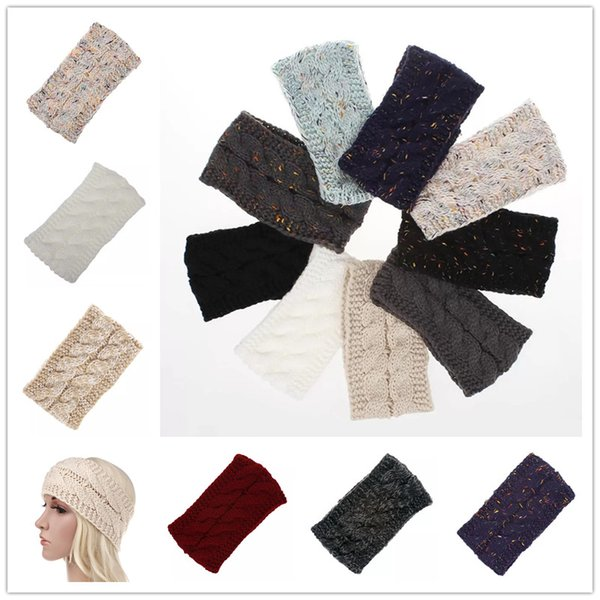 Knitted Headbands Ear Muffs Women Winter Ears warmer Headbands Knitted Turban Headwrap Crochet Headband Hair Accessories mk894