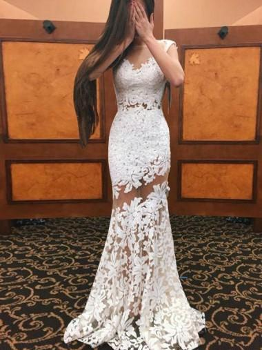 Sexy Long Mermaid Prom Dresses 2019 Deep V Neck Lace Applique Lace Halter Neck Backless Formal Dresses Evening Wear Gowns Custom
