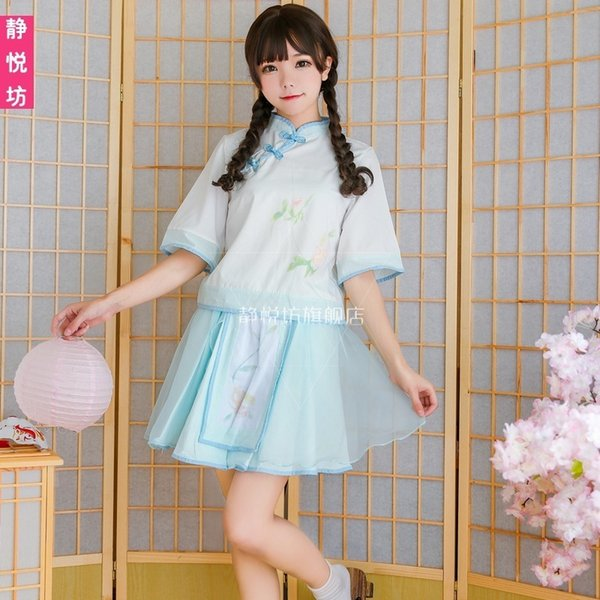Warm Short Hanfu Han Element Suit-dress Ancient Costume Woman Change Good Ancient Chinese Literature Search Serve Twinset Class Service