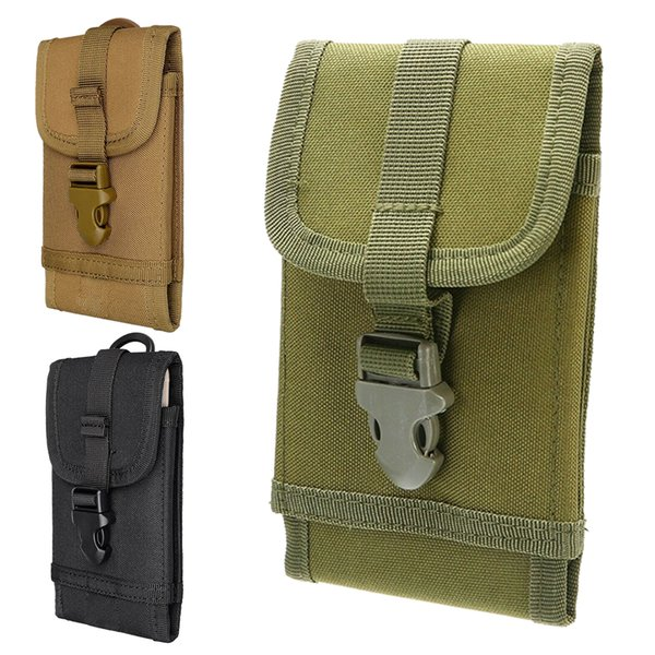 6 Inch Molle Tactical System Waterproof Nylon Belt Waterproof Case Cell Phone Holder Phone Pouch Mobile Bag