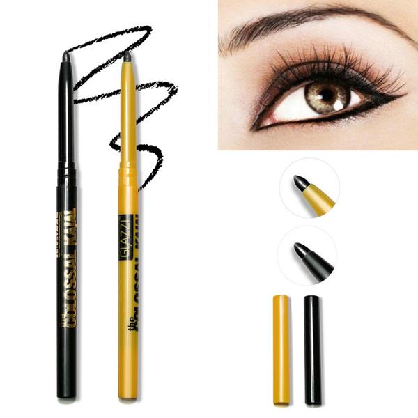 GLAZZI Гель Eyeliner Pen Макияж 2colors Случайные WaterProof Eye Liner Liquid Eyeliner Карандаш 2in1 Поворот Подводка для глаз Тени Косметика